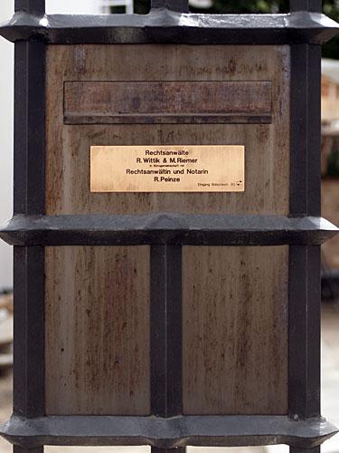 Detail Briefkasten, Foto: Christian Fittkau