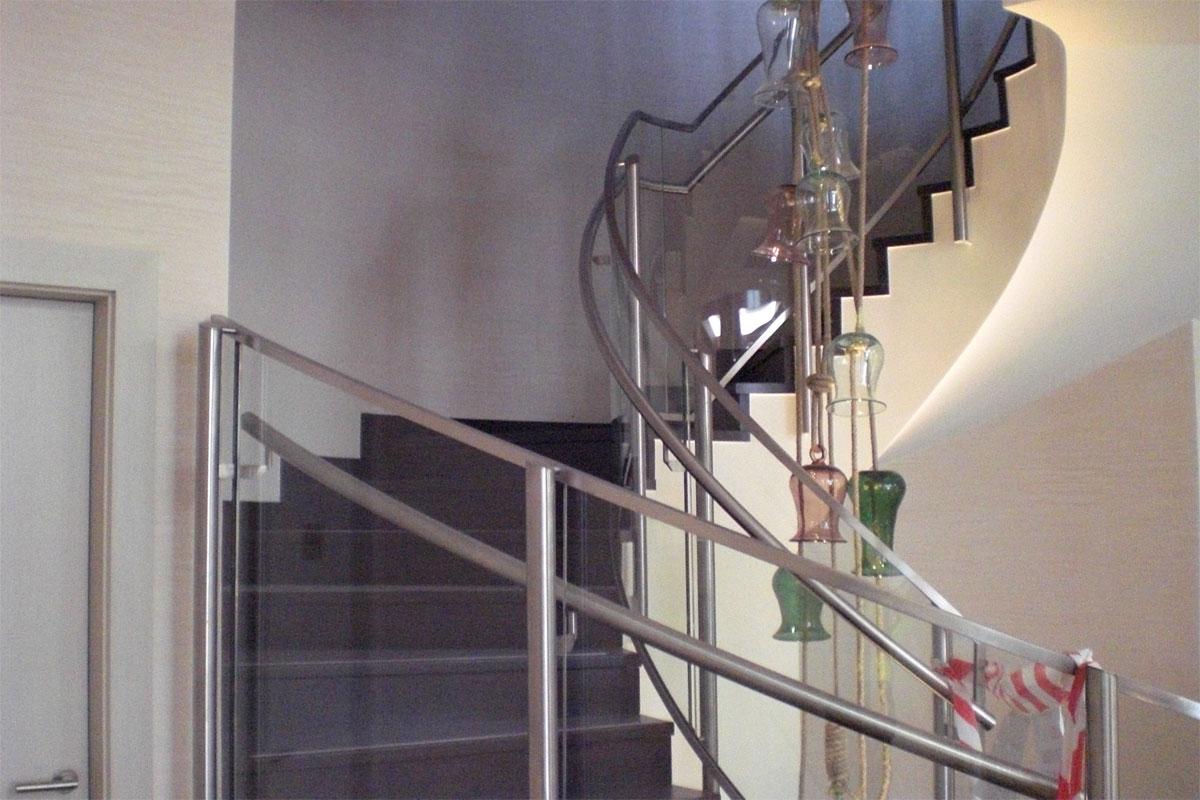 Stahl-Glas Treppe, Foto: Stefan Fittkau