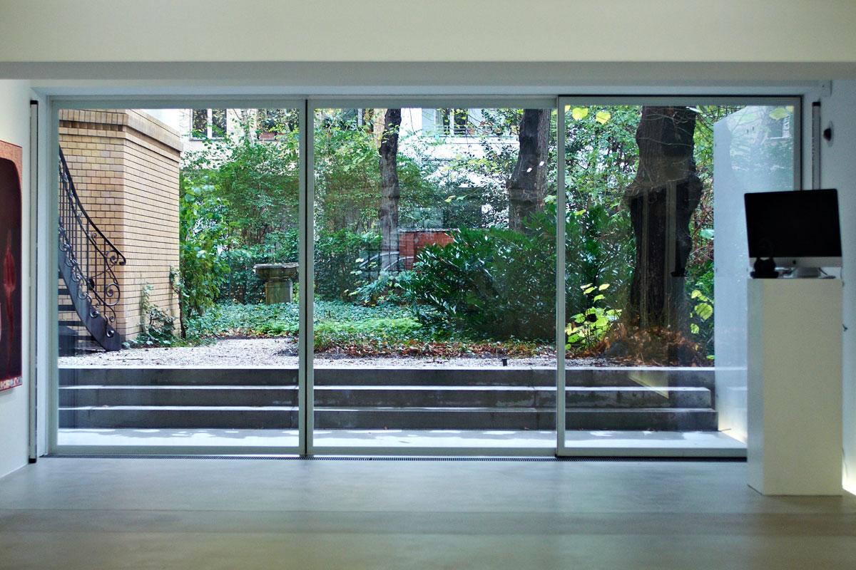 Glasschiebetüranlage, Foto: Christian Fittkau